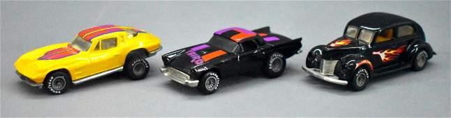 Three different Mattel Hot Wheels Real Riders classic