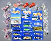 Group of Mattel Hot Wheels cars
