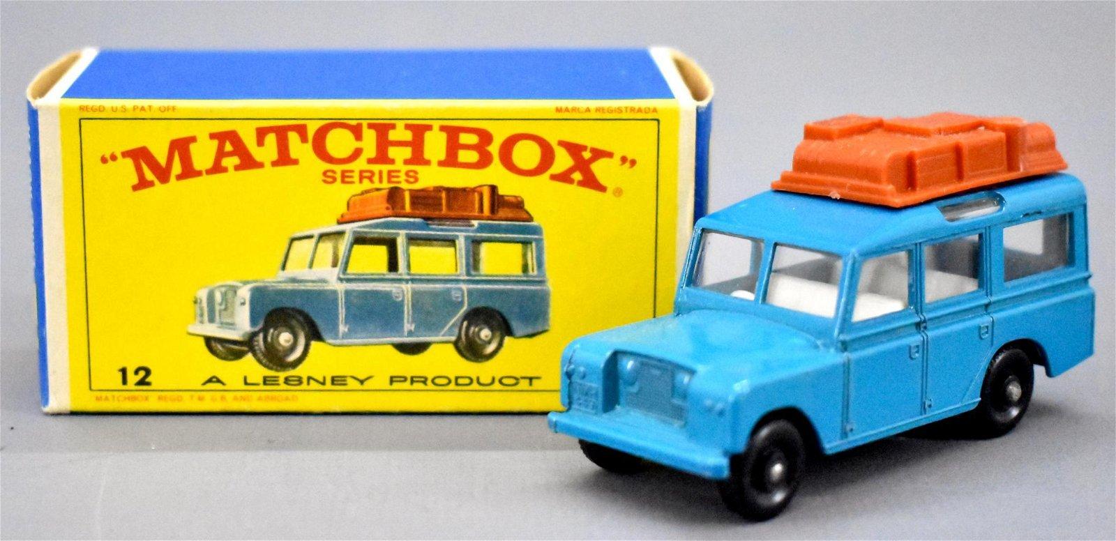 Vintage Matchbox die cast 12 Safari Land Rover in