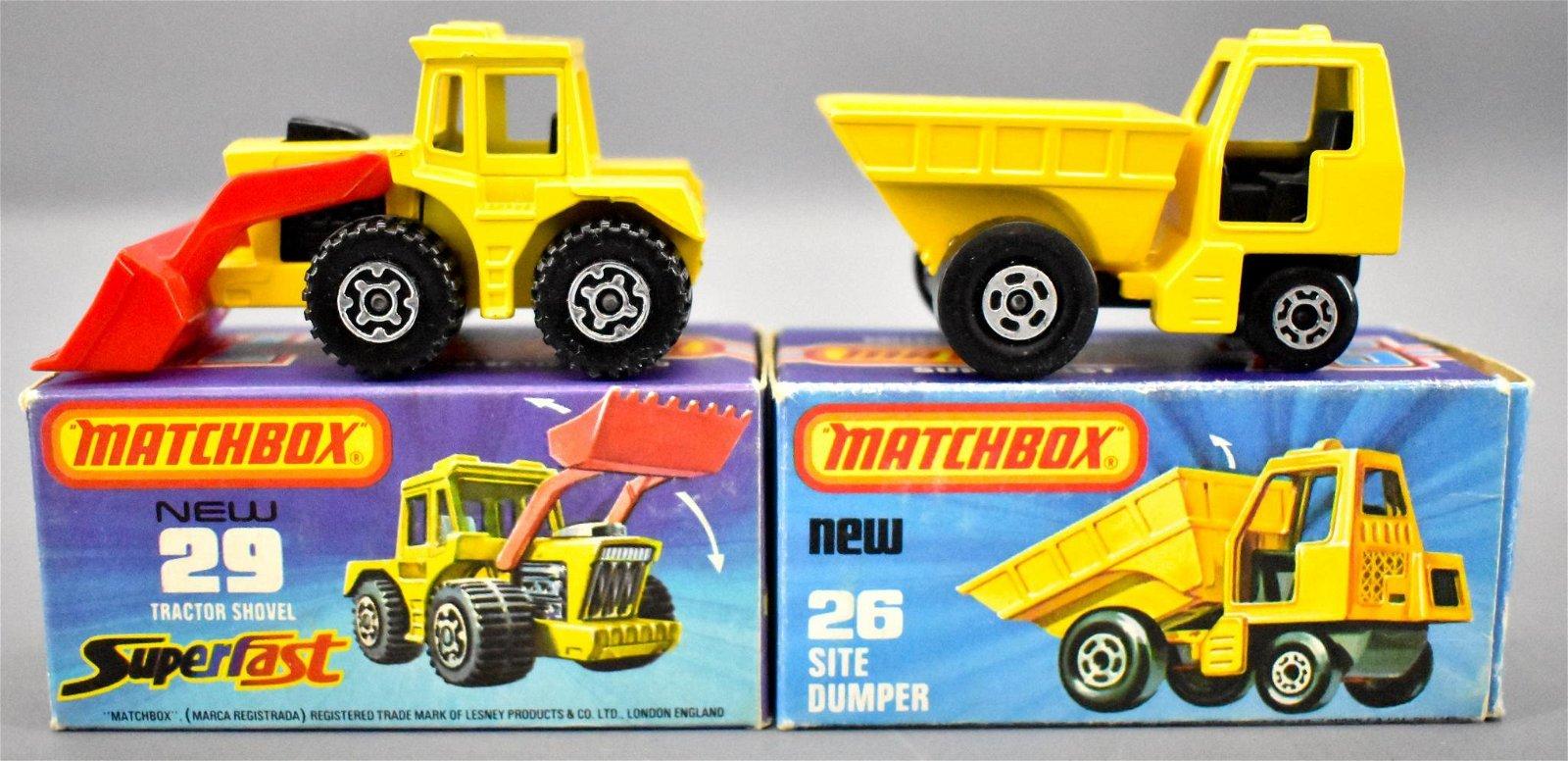 Two vintage Matchbox Superfast die cast toys inoriginal