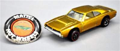 Redline Hot Wheels honey gold US Custom Charger with