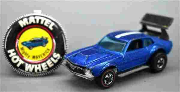 Redline Hot Wheels blue HK Mighty Maverick with