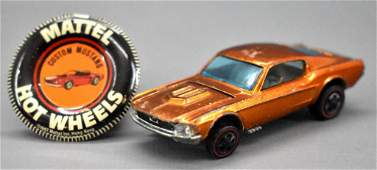 Redline Hot Wheels orange US Custom Mustang with