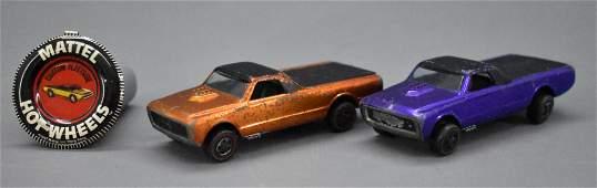 Two Redline Hot Wheels US Custom Fleetside with