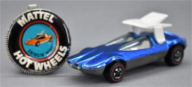 Redline Hot Wheels blue US Swingin Wing with original