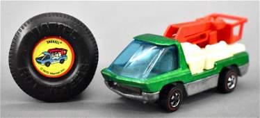 Redline Hot Wheels green HK Heavyweights Snorkel with