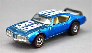 Redline Hot Wheels blue Olds 442