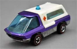 Redline Hot Wheels purple HK Heavyweights Ambulance