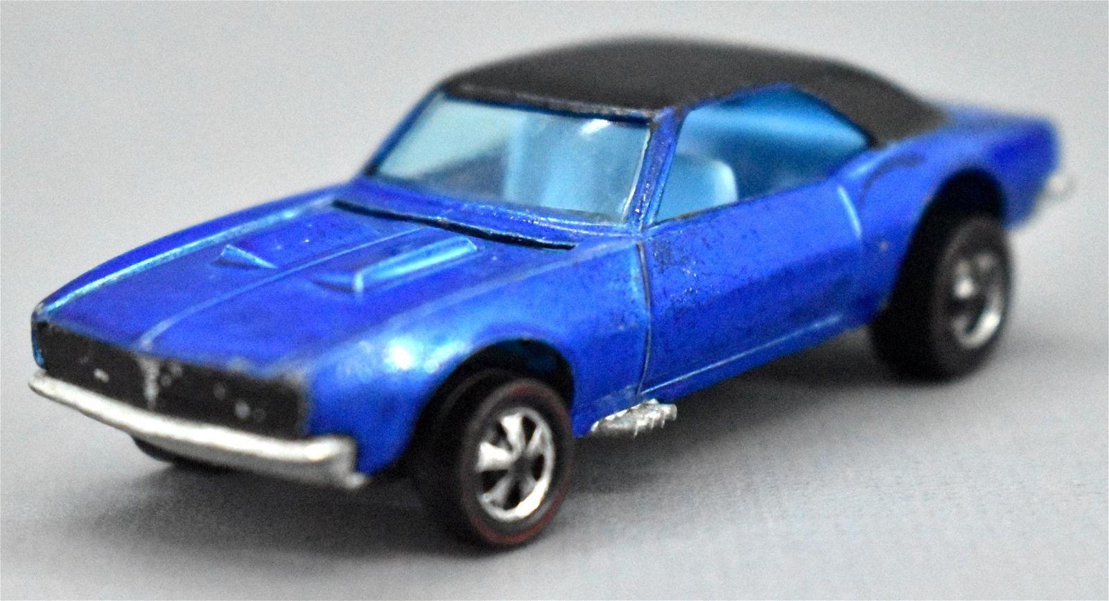 Redline Hot Wheels blue HK Custom Camaro with blue
