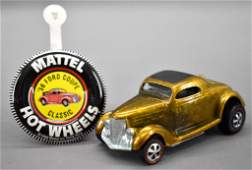 Redline Hot Wheels gold US Classic '36 Ford Coupe with