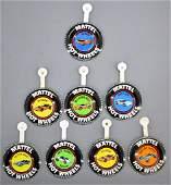 Mattel Redline Hot Wheels group of original buttons