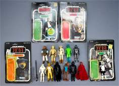 Group of vintage 1970's and 80's Star Wars figures with