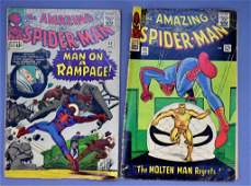 Marvel Amazing Spiderman #32 and #35 silver age comics