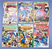 Group of six Marvel Amazing Spiderman bronze age comic