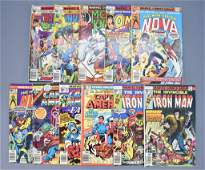 Group of 11 mixed Marvel bronze age superhero comics