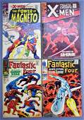 Marvel XMen 41 43 and Fantastic Four 72 73 silver age