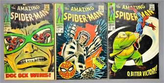 Marvel Amazing Spiderman 55 58 60 silver age comic