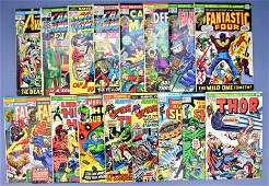 Group of seventeen various title Marvel bronze age
