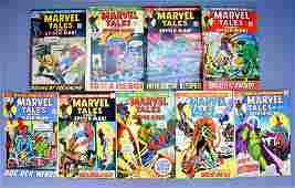 Group of nine Marvel tales bronze age comic books 3649