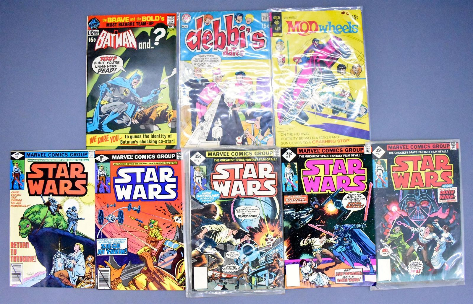 Mixed Group of Marvel and DC bronze age comic books