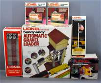 Group of Lionel modern era O gauge train layout