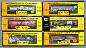 Six MTH Rail King O gauge tank cars in original boxes