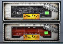 Two MTH Rail King O gauge die cast freight cars in