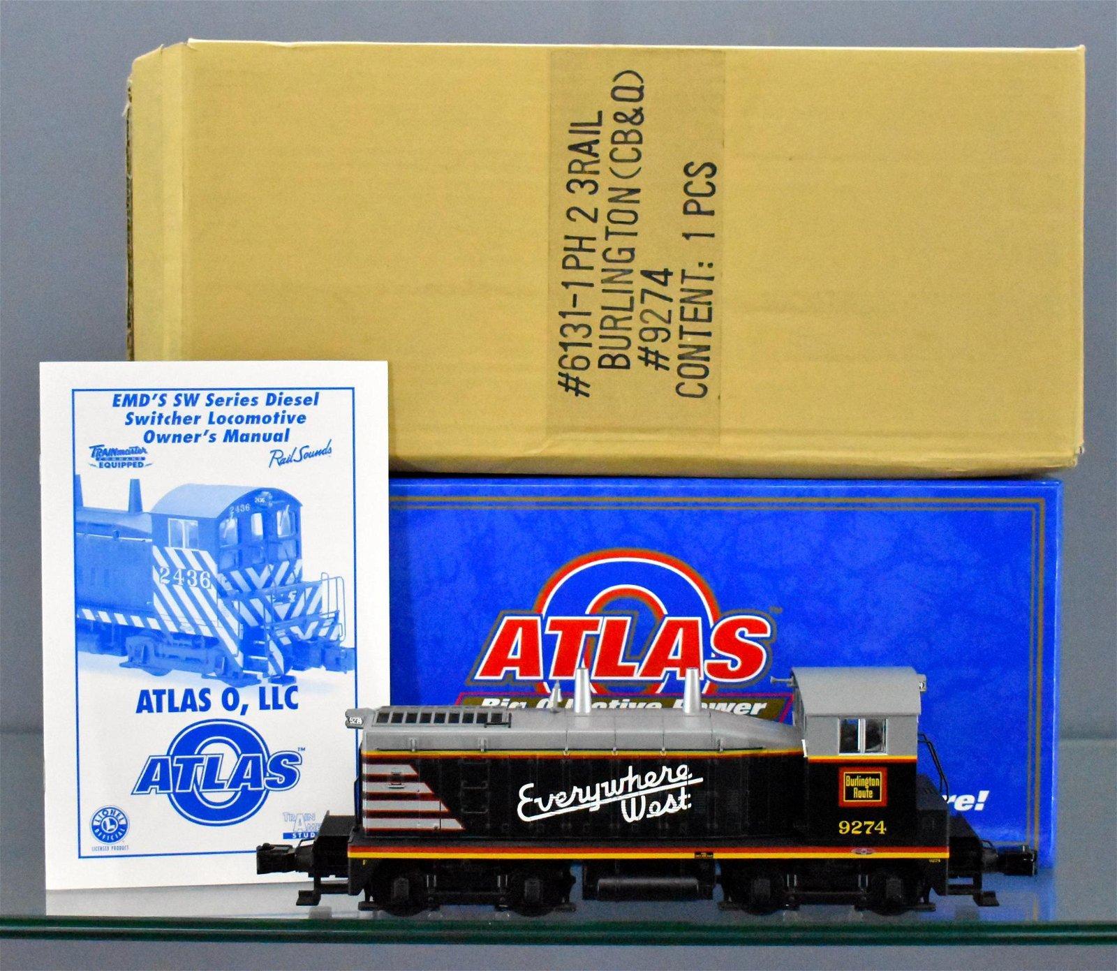 Atlas O scale Burlington EMD SW1200 phase II diesel