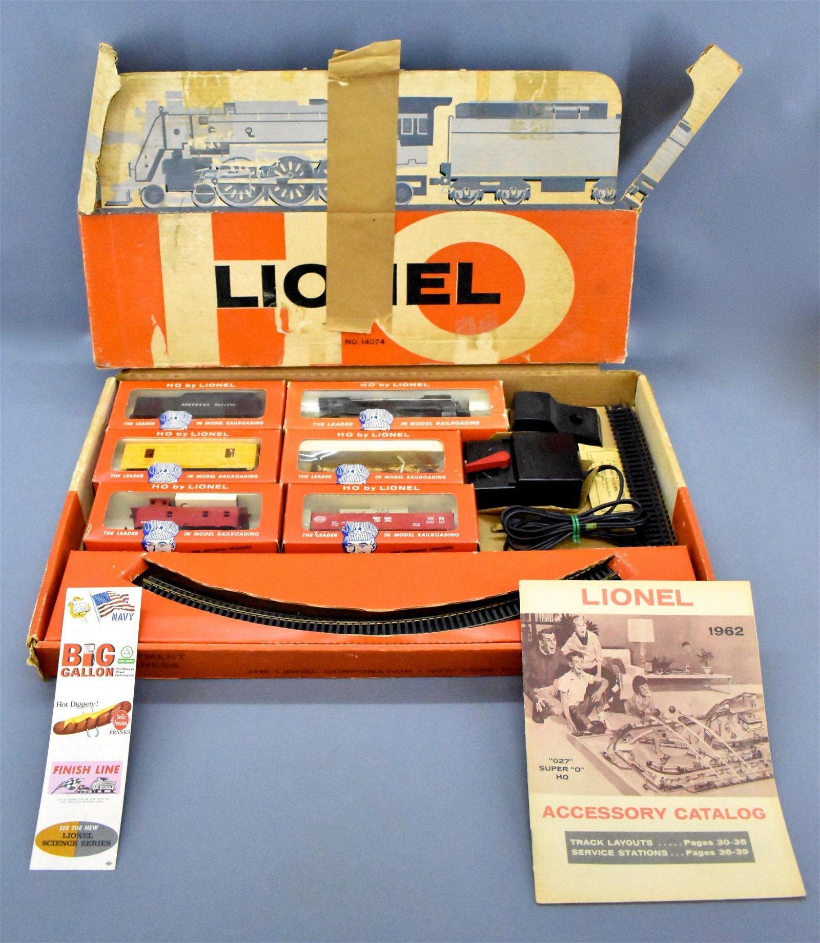 Lionel postwar HO 14074 steam freight set in original