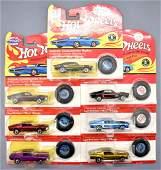 Seven Hot Wheels vintage series Custom Mustang MOC