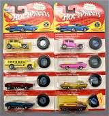Group of eight Vintage series Hot Wheels MOC