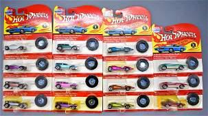 Group of fifteen Vintage series Hot Wheels MOC