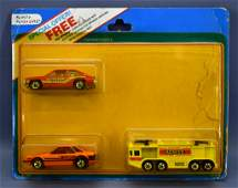 Hot Wheels three car special offer set on blister card