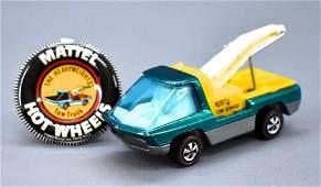 Redline Hot Wheels Heavyweights aqua HK Tow Truck with