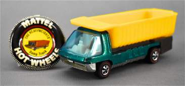 Redline Hot Wheels Heavyweights aqua HK Dump Truck with
