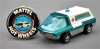 Redline Hot Wheels Heavyweights aqua HK Ambulance with