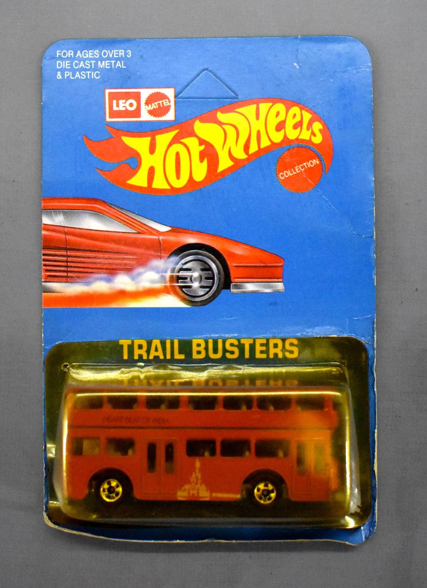 India Leo Mattel Hot Wheels Trail Busters Red Double