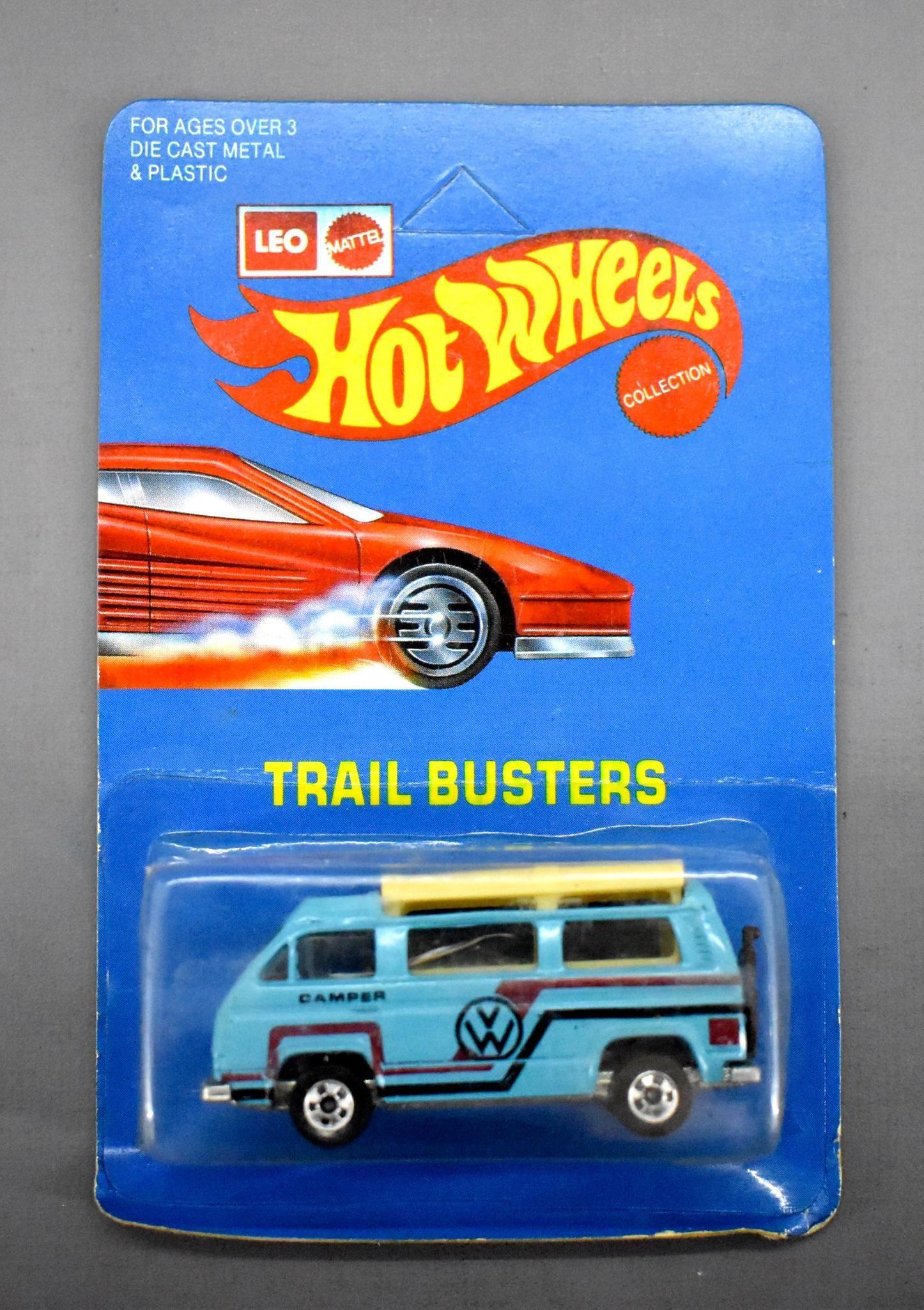India Leo Mattel Hot Wheels Trail Busters Light Blue VW