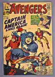 Marvel Avengers # 4 FN- 5.5 1st Silver Age appearance