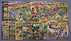 Group of 16 mixed Marvel and DC bronze age comic books