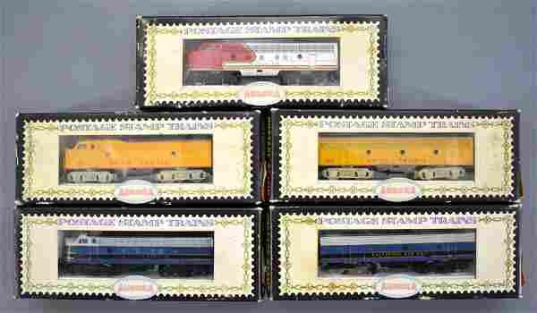 Group of Aurora Postage Stamp N scale Alco diesel
