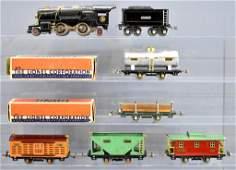 Lionel prewar O gauge steam freight set with 259E steam