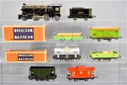 Lionel prewar O gauge steam freight set with 262 steam
