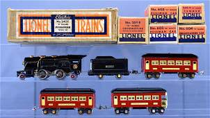 Boxed Lionel prewar O gauge 242E steam passenger set