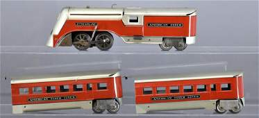 American Flyer O gauge 964-T Minne-Ha-Ha tin streamline