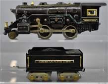 American Flyer prewar O gauge 3198 steam locomotive and