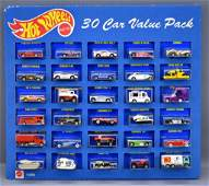 Scarce 1990's Hot Wheels Blue cars 30 car value pack on