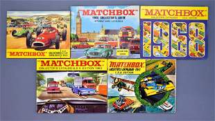 Nice group of vintage Matchbox USA Collectors catalogs