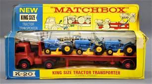 Vintage Matchbox King Size K-20 tractor transporter die