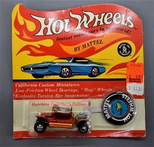 Redline Hot Wheels orange US Hot Heap on a sealed